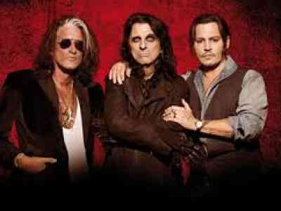 Hollywood Vampires Joe Perry - Alice Cooper - Johnny Depp